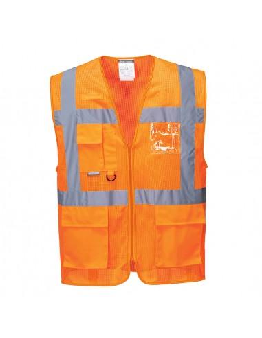 Portwest-Gilet haute visibilité excellente évacuation d'air Meshair Athène Orange
