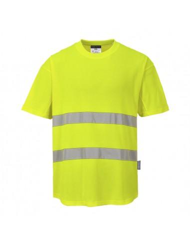 Portwest-T-shirt haute visibilité de travail aéré chaleur extrême Jaune