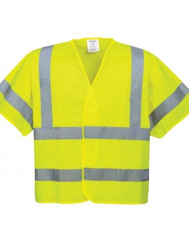 Portwest-Gilet de travail haute visibilité à manches courtes Jaune