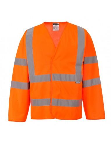 Portwest-Gilet léger haute visibilité de travail manches longues Orange