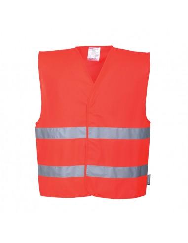 Portwest-Gilet professionnelle haute visibilité double bande Rouge
