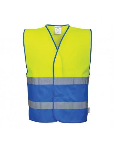Portwest-Gilet haute visibilité léger bicolore de travail Jaune/Bleu Roi