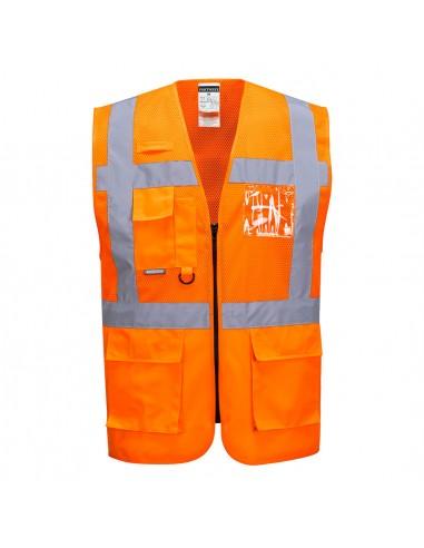 Portwest-Gilet haute visibilité de travail exécutive maille Madrid Orange