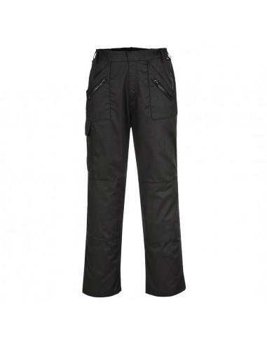 Pantalon de travail avec ceinture semi-élastiquée Action Noir