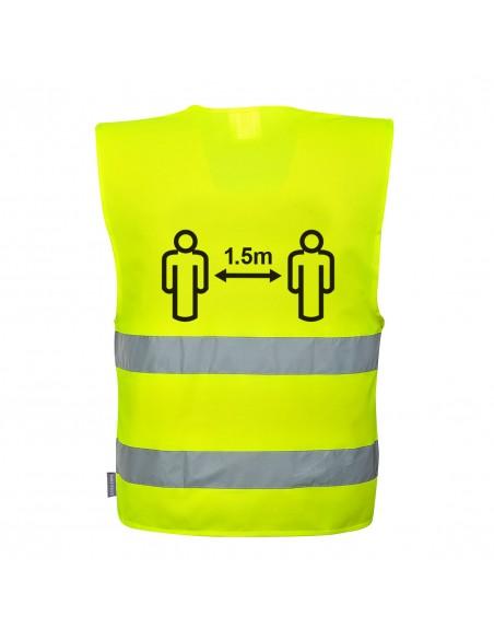 Portwest-Gilet de travail distanciation sociale Covid 1m50 Jaune