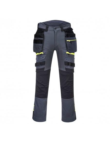 Portwest-Pantalon de travail BTP DX4 poches flottantes démontables Gris